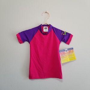 Nwt skins radicool girls swim shirt size 2 (b)